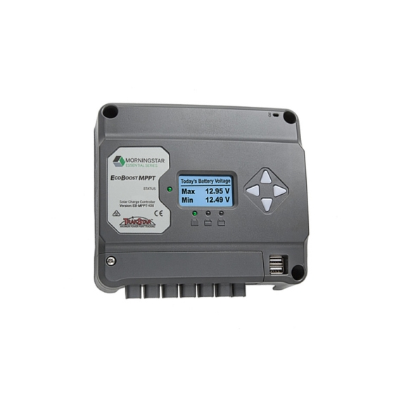 Morningstar EcoBoost 12/24V 30A MPPT Charge Controller With Meter