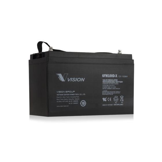 Vision FM Series 12V 100Ah Deep Cycle VRLA Battery