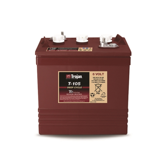 TROJAN T-105 DEEP CYCLE FLOODED 6V 225AH BATTERY