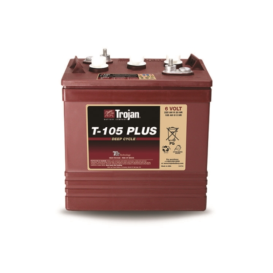 TROJAN T-105+ DEEP CYCLE FLOODED 6V 225AH BATTERY