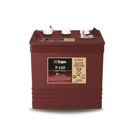 TROJAN T-125 DEEP CYCLE FLOODED 6V 240AH BATTERY