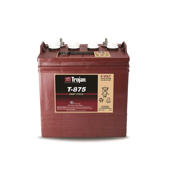 TROJAN T-875 DEEP CYCLE FLOODED 8V 170AH BATTERY