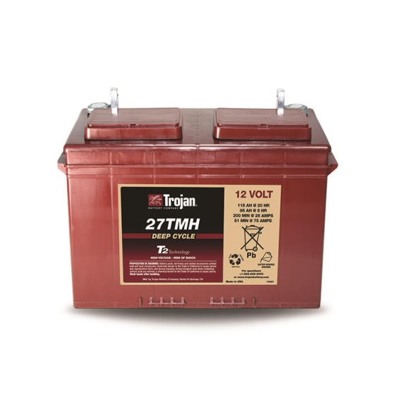 TROJAN 27MTH DEEP CYCLE FLOODED 12V 115AH BATTERY