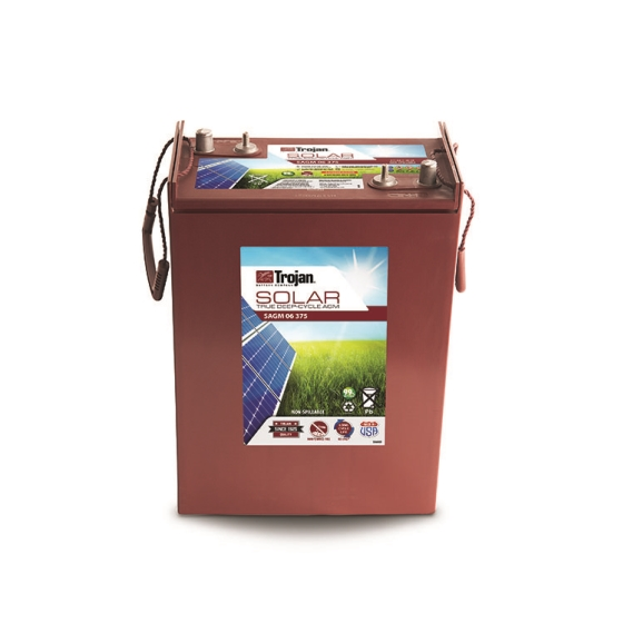 TROJAN SAGM 06 375 SOLAR AGM DEEP CYCLE 6V 375AH BATTERY