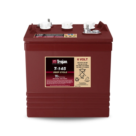 TROJAN T-145 DEEP CYCLE FLOODED 6V 260AH BATTERY