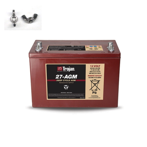 TROJAN 27-AGM AGM DEEP CYCLE 12V 89AH BATTERY