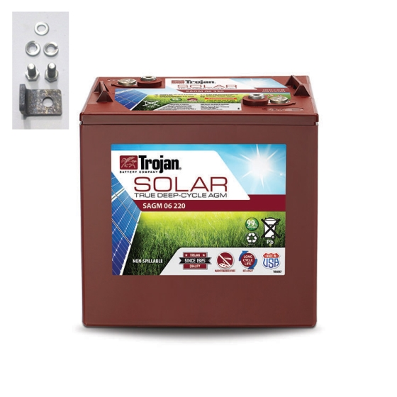 TROJAN SAGM 06 220 SOLAR AGM DEEP CYCLE 6V 220AH BATTERY
