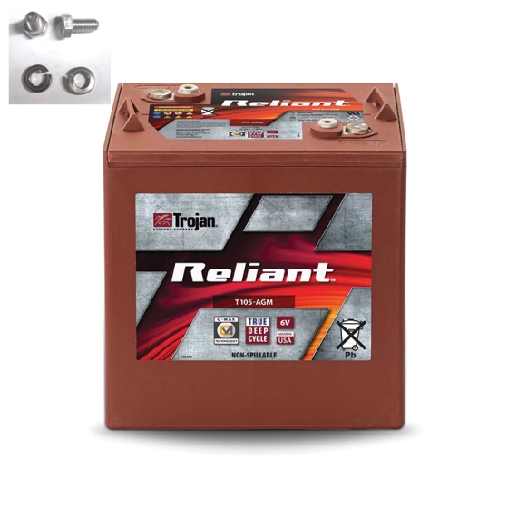TROJAN T-105-AGM RELIANT DEEP CYCLE AGM 6V 217AH BATTERY
