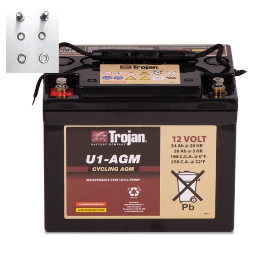 TROJAN U1-AGM AGM DEEP CYCLE 12V 33AH BATTERY